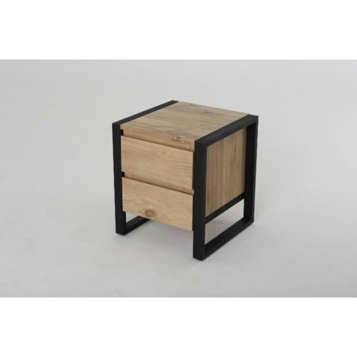 table de chevet en bois trend achat vente chevet table de chevet en bois t bois m tal. Black Bedroom Furniture Sets. Home Design Ideas