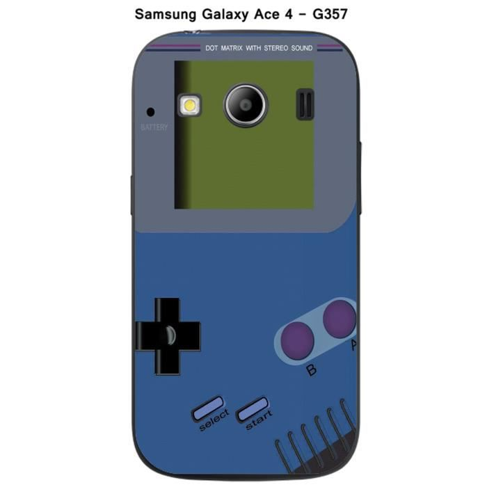coque samsung galaxy ace 4 g357 game boy classic blue achat housse tui pas cher avis et. Black Bedroom Furniture Sets. Home Design Ideas