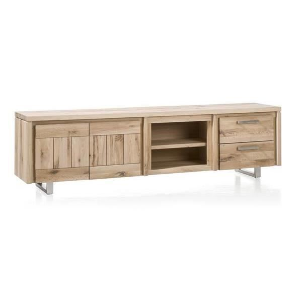 meuble tv 220 cm ch ne massif more i h h achat vente meuble tv meuble tv 220 cm ch ne mass. Black Bedroom Furniture Sets. Home Design Ideas
