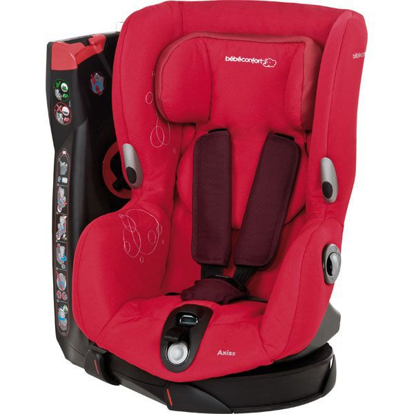 Bebe confort si ge auto gr1 axiss intense red achat for Siege rehausseur bebe