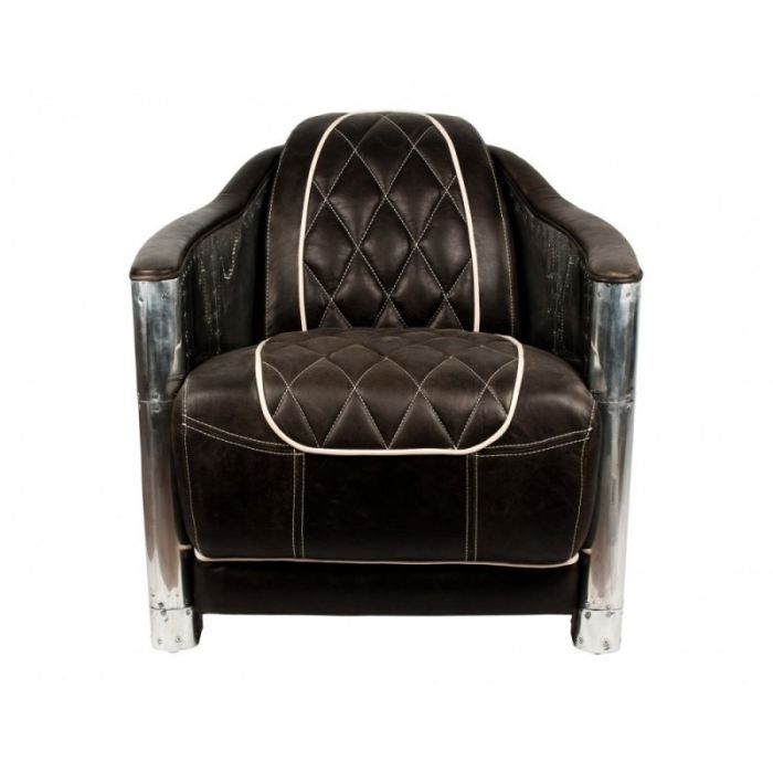 fauteuil aviateur design william cuir vieilli e achat. Black Bedroom Furniture Sets. Home Design Ideas