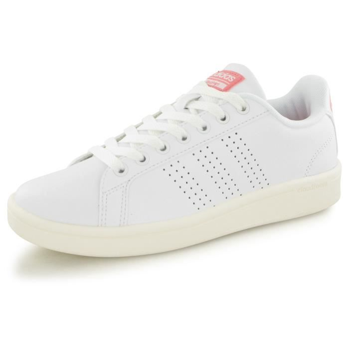 Adidas Neo Cloudfoam Advantage blanc, baskets mode femme