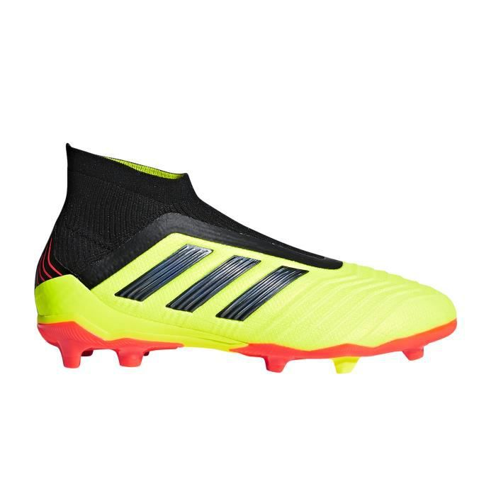 a few days away official supplier various design Chaussures football adidas Predator 18+ FG Jaune Junior ...