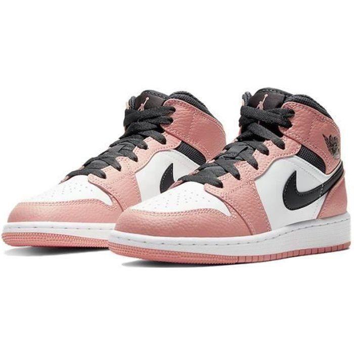 Basket NIKE Air Jordan 1 Mid Femme Jordans One AJ 1 Pink ...