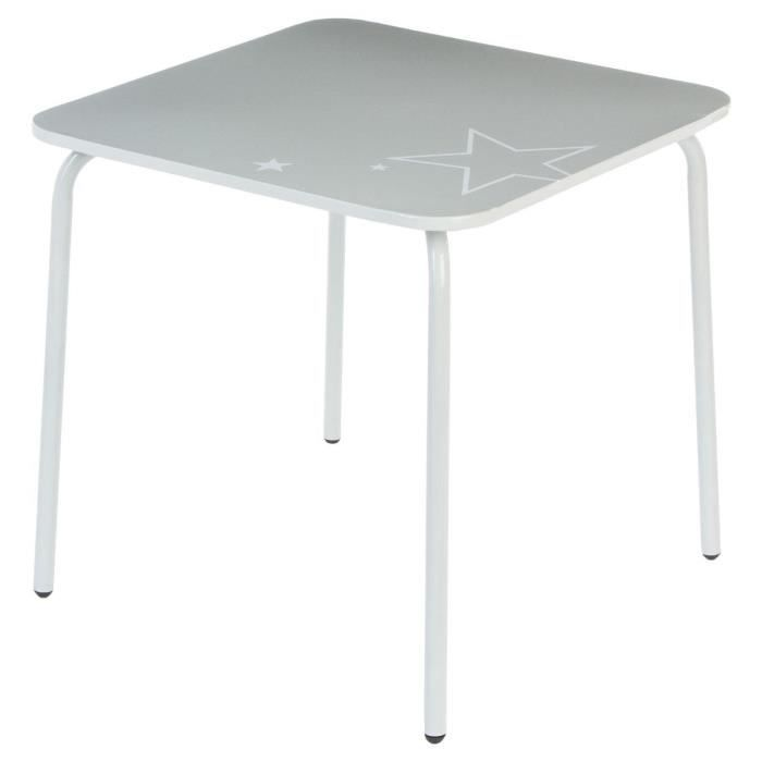Paris prix table enfant m tal 48cm gris achat vente for Table exterieur rallonge aluminium