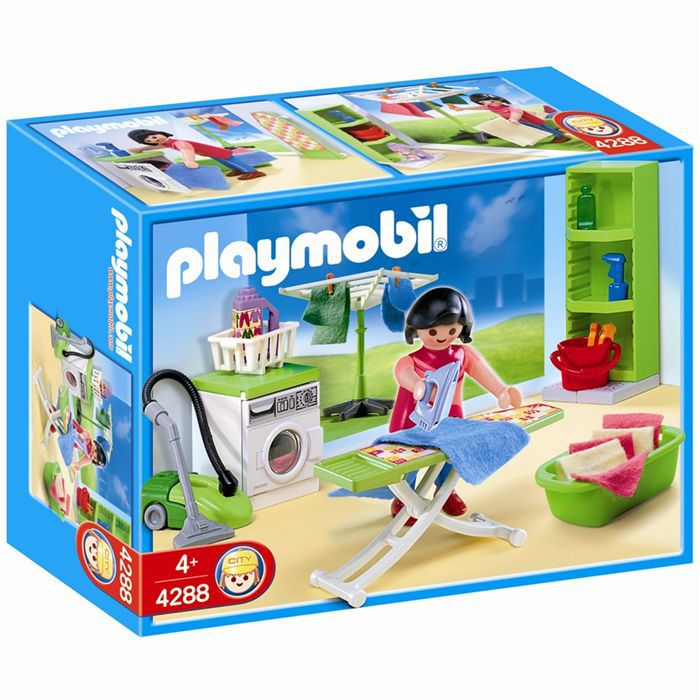 playmobil 4288 buanderie achat vente univers miniature soldes cdiscount. Black Bedroom Furniture Sets. Home Design Ideas