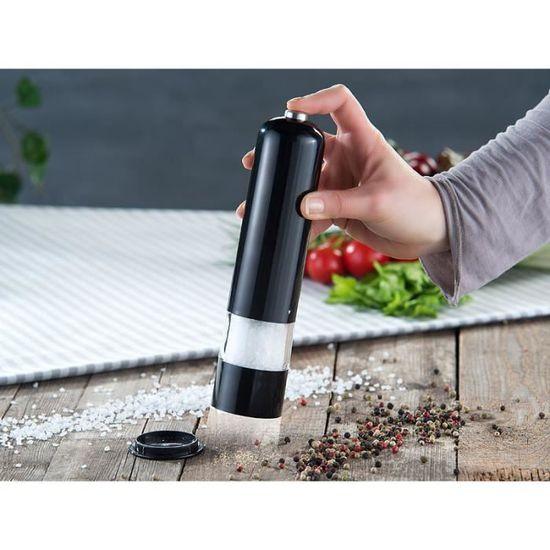 moulins /à sel de poivre noir r/églables /à piles Moulin /à poivre /électrique dacier inoxydable