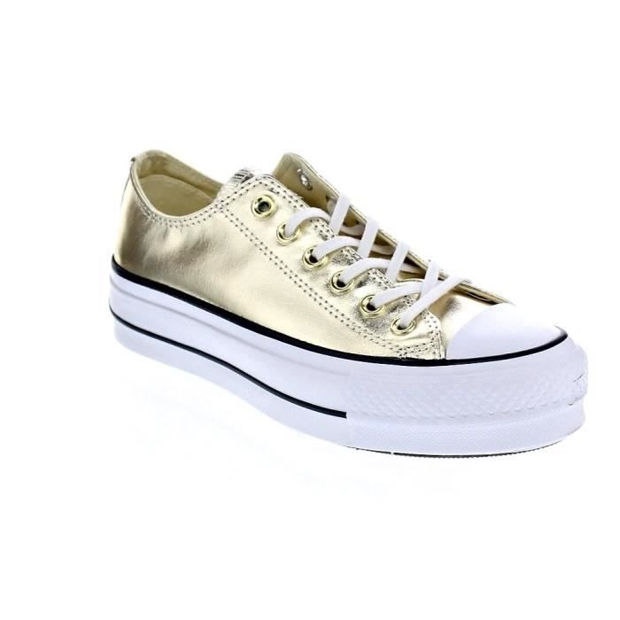 Chuck Lift Femme Taylor Basses Converse Star Baskets 37 Or wSEPX