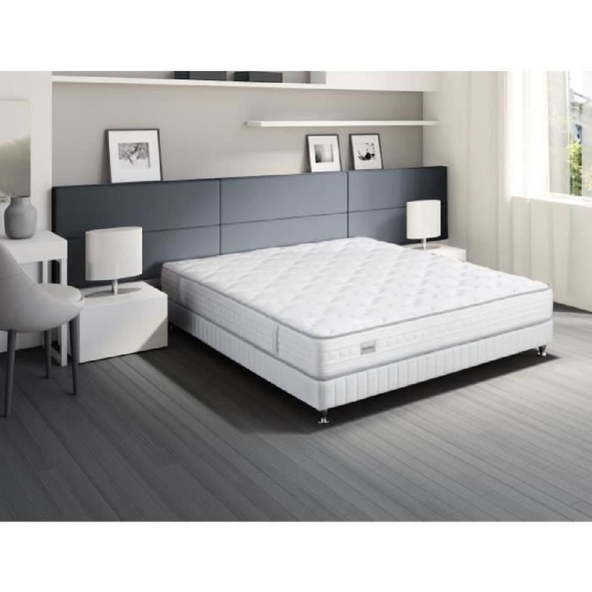 simmons patio ensemble matelas sommier 160x200cm patio ressorts ferme 65kg m3 s rie. Black Bedroom Furniture Sets. Home Design Ideas