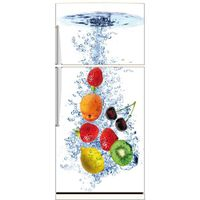 sticker frigo d co fruits dimensions 70x170cm achat vente stickers cdiscount. Black Bedroom Furniture Sets. Home Design Ideas