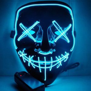 MASQUE - DÉCOR VISAGE Masque d'Halloween LED Light up Masque de Purge po