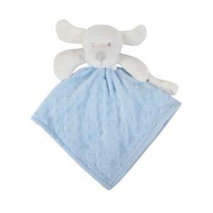 DOUDOU Doudou attache tétine bleu bébé garçon