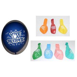 BALLON DÉCORATIF  Lot 10 Ballons Vive la Retraite Multicolore 31cm M
