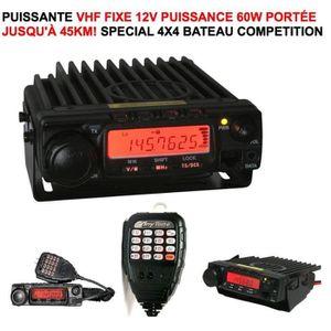 RADIO CB PUISSANTE VHF FIXE 12V PORTÉE 45KM ! SPECIAL TERRE