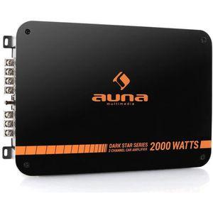 AMPLIFICATEUR AUTO auna Dark Star 2000 - Ampli auto 2 canaux 200W RMS