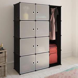 ARMOIRE DE CHAMBRE Cabinet meuble modulable avec 9 compartiments de r