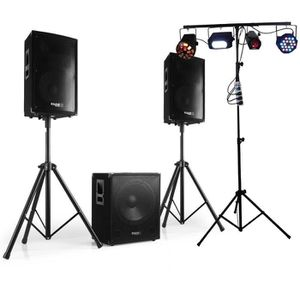 PACK SONO Pack CUBE 1512 + DISCO 12 2000W PIEDS + Cables + D