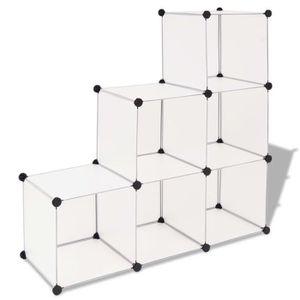 BOITE DE RANGEMENT Dealpark cube de rangement 6 compartiments Blanc 1