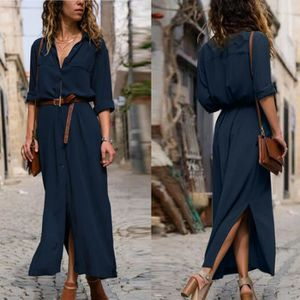 ROBE Femmes Robe Solides manches longues pour femmes Ca