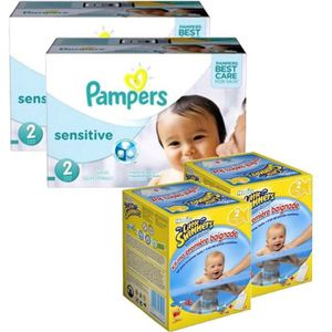COUCHE Pack bébé propre 360 couches Pampers New Baby Sens
