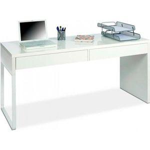 BUREAU  Bureau reversible avec tiroir coloris Blanc Artic