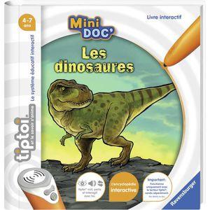 JEU D'APPRENTISSAGE RAVENSBURGER -  Les dinosaures Tiptoi Mini Doc'