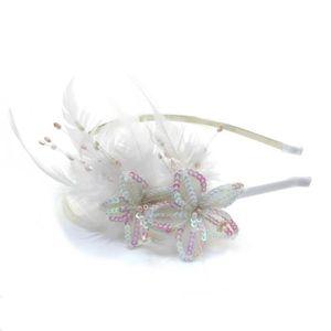 Filles Serre-tête Mariage Fête Femmes Serre-Tête Belle Perle Bandeau UK Vendeur