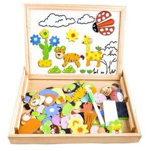 PUZZLE Puzzles Enfant en Bois Magnétique,Tableau Noir de