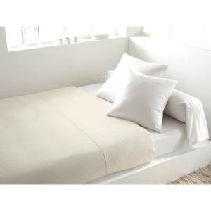 DRAP PLAT SOLEIL d'OCRE Drap plat 100% Coton 260x300cm Ecru