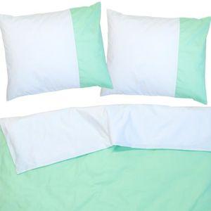 HOUSSE DE COUETTE SEULE Aqua Bleu & Blanc - SoulBedroom 100% Coton Parure