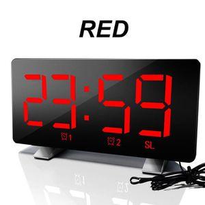Radio réveil TEMPSA LED Radio Réveil Radio FM Avec Double Alarm