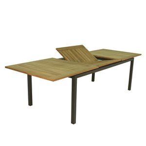 Table de jardin extensible Aluminium & Teck Jupiter TRESI ...