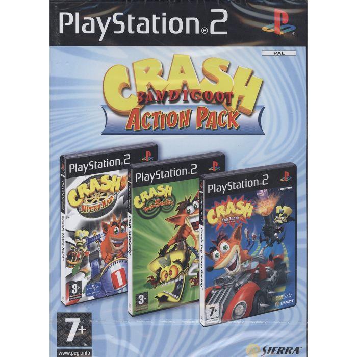 JEU PS2 CRASH BANDICOOT ACTION PACK / Jeu console PS2