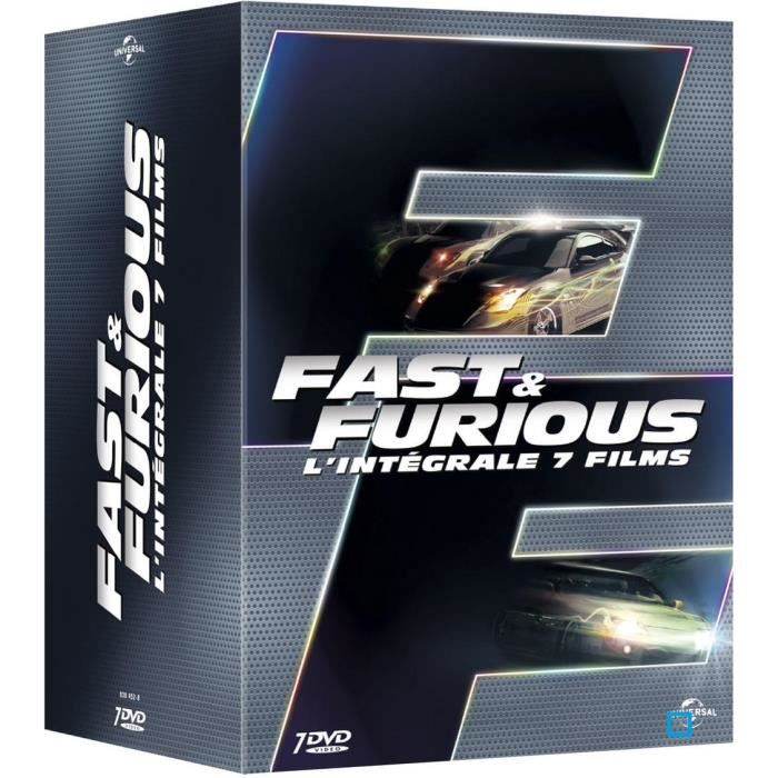 dvd fast and furious l 39 int grale 7 films en dvd film pas cher cdiscount. Black Bedroom Furniture Sets. Home Design Ideas