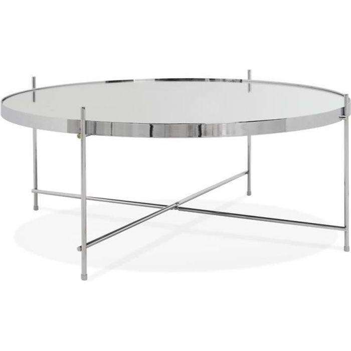 Table basse de salon 'KOLOS BIG' couleur chrome