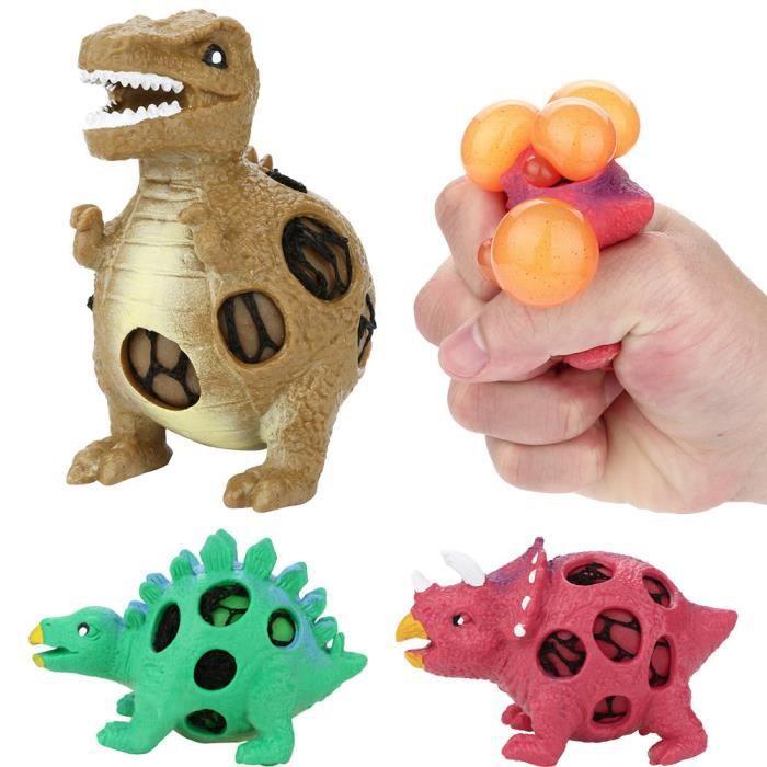 Modèle de dinosaure balles de ventilation de raisin presser pression balle anti-stress jouet de soulagement du stress LIY80504001