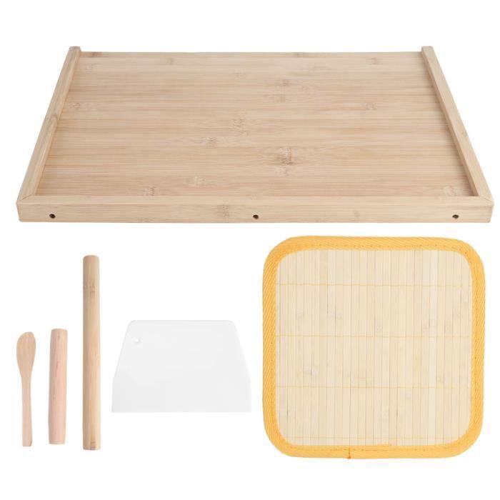 Planche à pâte en bambou à double usage pâtisserie coupe des aliments à découper plan de travail ustensile de cuisine-COU