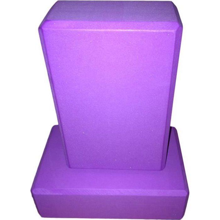 lot 2 briques de yoga Violet