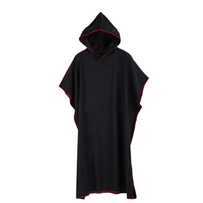 Crème solaire vacances Robe combinaison changeante surf Poncho Robe douce avec capuche cadeau adulte - Modèle: black - TEYYMJA03956