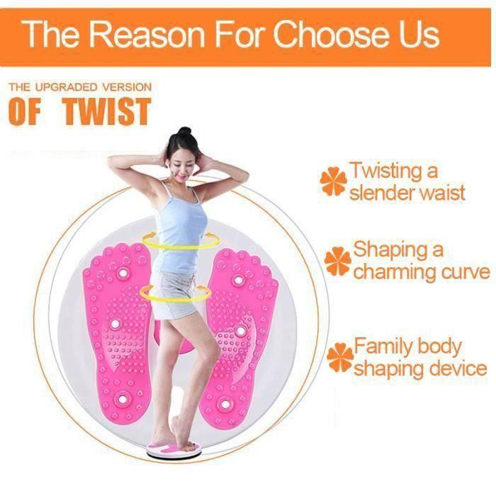 Machine de Torsion Fitness équilibre Taille Torsion Disque Balance Massage Physique VERT Bo57759