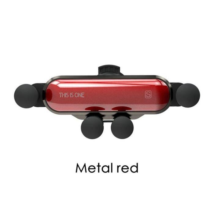 Accessoires de voiture Support de gravité Support pour téléphone pour Mini One Cooper R50 R52 R53 R55 R56 R57 R58 - Type Metal red