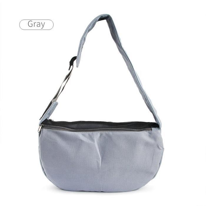 Sac de transport,Sac animal domestique Petit sac transporteur de chien, sac à main chiot, sacs à bandoulière produit - Type Gris