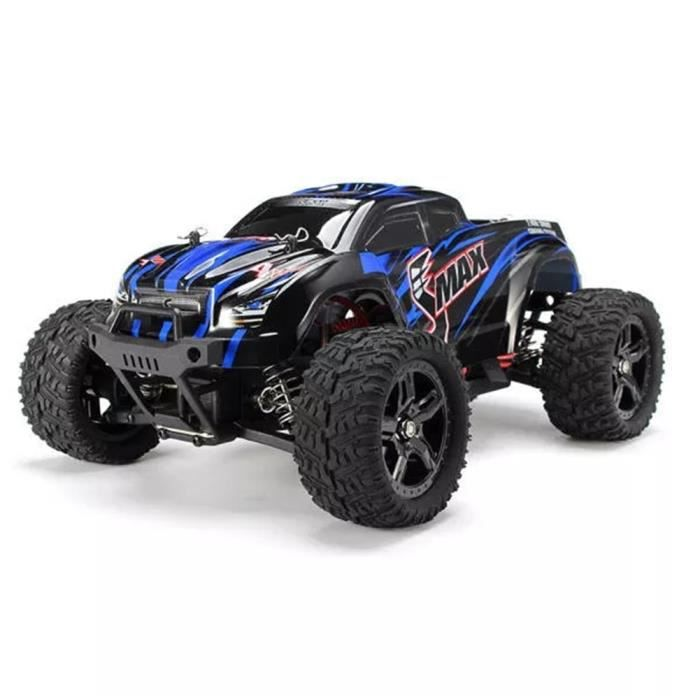 Voiture SMAX RC REMO 1631 1-16 2.4G 4WD brossée Monster Truck blue