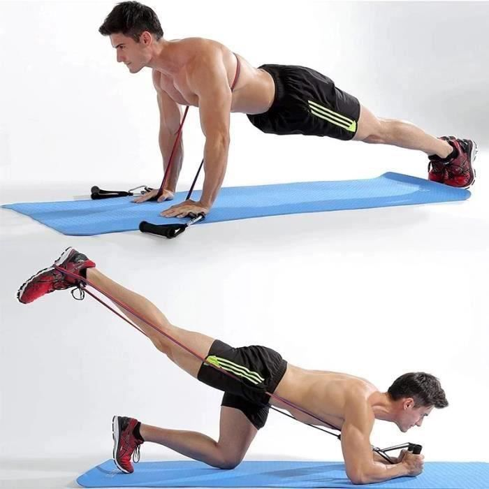 11 pièces/ensemble de bandes de résistance de yoga, équipement de fitness, cordes élastiques d'exercice, muscles du dos à la maison
