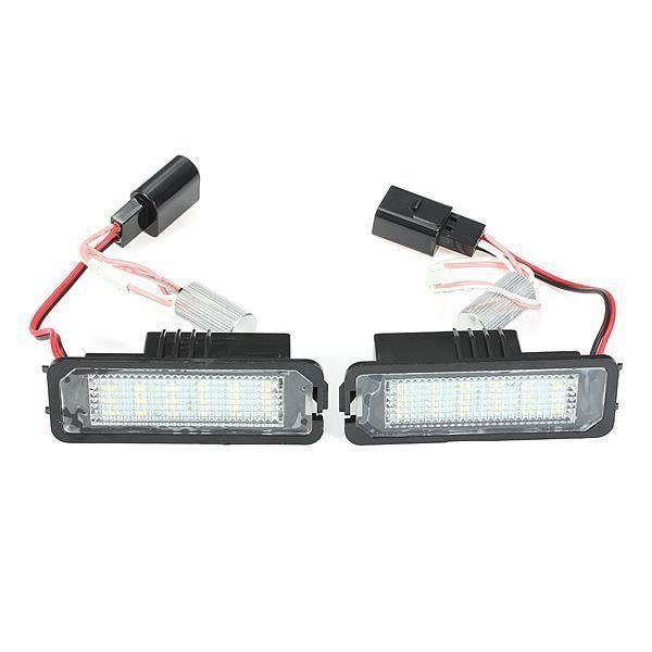 CS 2 x Feux plaque d'immatriculation 18 SMD Chips LED éclairage pr VW Golf Mk4 MK5 Passat Polo - CSAVC824A5671
