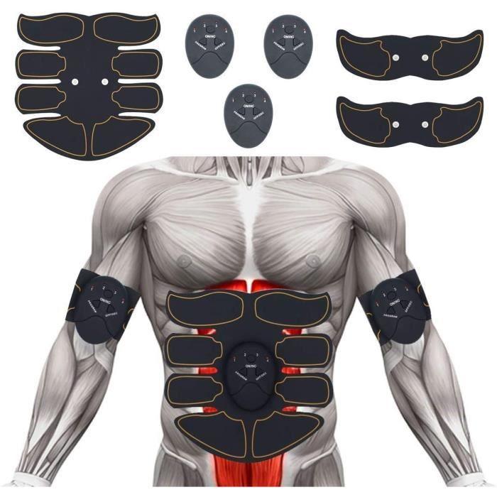 CEINTURE ABDOMINALE ABS Electrostimulateur Musculaire EMS Ceinture Abdominale Abdominale Musculaire Abdominal Massage Electrosti2440