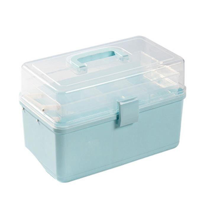 Armoire à pharmacie, boîte à pharmacie en plastique à 3 niveaux boîte transparente de premiers soins H205