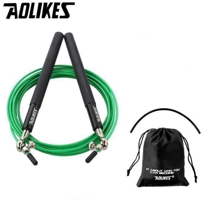 3m Vitesse Corde à sauter en acier réglable par câble Fitness exercice Crossfit boxe Z21943 COSwk4064