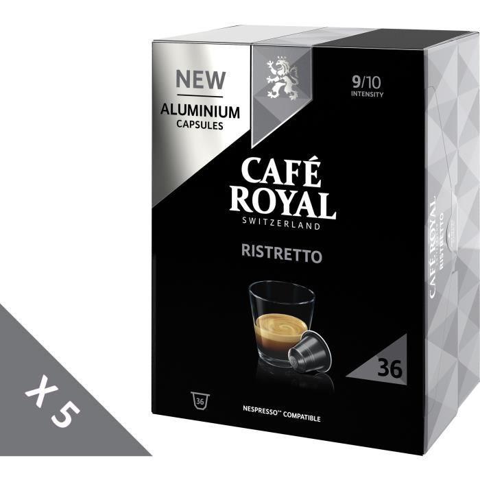 [Lot de 5] CAFE ROYAL Café compatible Nespresso Alu Ristretto x36