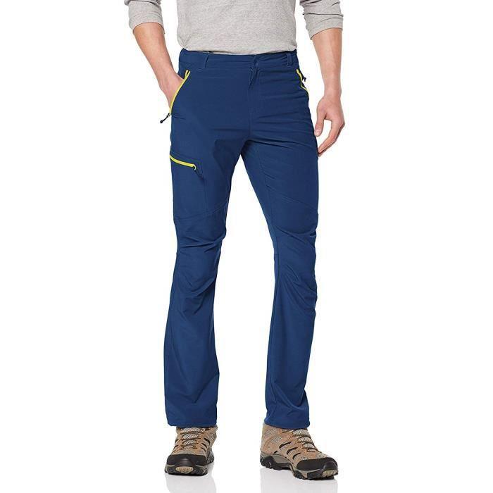 Columbia 1711681 - COMMUTATEUR KVM - Homme Pantalon de Randonnée, Triple Canyon Pant, Polyester, Bleu (Carbone), Taille US :